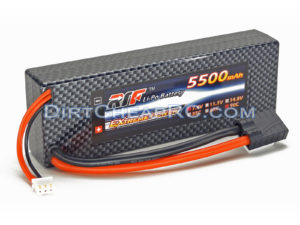 7.4V 5500mAh 2S Cell 90C HardCase LiPo Battery Pack w/ Traxxas High Current Style Connector (RTF)