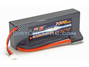 7.4V 7000mAh 2S Cell 90C HardCase LiPo Battery Pack w/ Traxxas High Current Style Connector (RTF)