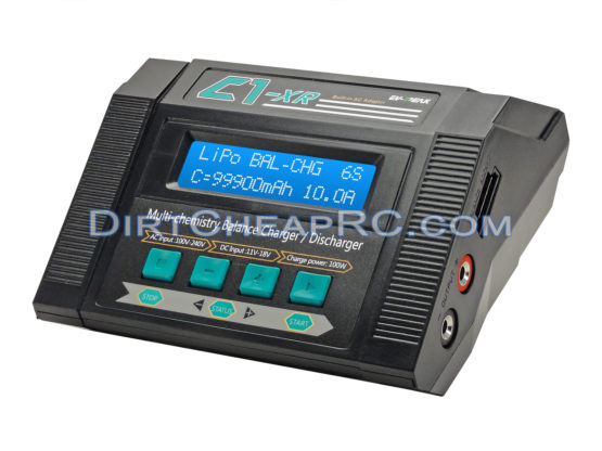 C1-XR (10Amps, 100Watts): LiPo, LiHV, LiIon, LiFe, NiCd, NiMh, Pb AC/DC Multi-Chemistry Balancing Battery Charger w/ Internal Resistance (IR), Terminal Voltage Control (TVC) & Battery Meter