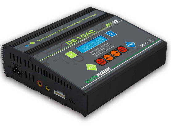 D610AC Dual Port (2x 10Amps, 2x 100Watts): LiPo, LiHV, LiIon, LiFe, NiMH, NiCd, Pb AC/DC Balancing Battery Multicharger w/ Adjustable End Voltage (110V & 220V compatible)