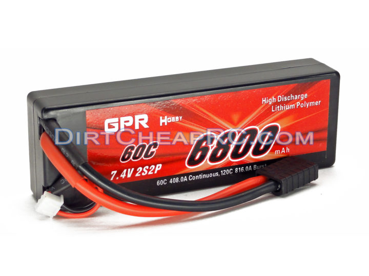 7.4V 6800mAh 2S Cell 60C-120C HardCase LiPo Battery Pack w/ Genuine Traxxas High Current Connector