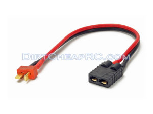 Traxxas Female to Deans T-Plug Male Connector: Traxxas ID Charger Cable/Wire/Plug Adapter