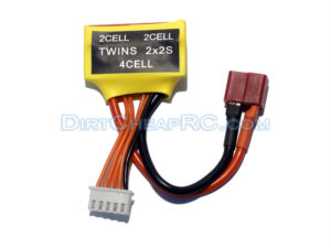 Twins 4S - 2x 2S Dual Charger Adapter - Balance Charges 2 2-Cell LiPo Batteries at Once