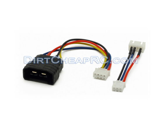 GT Power 3S Traxxas ID Male Plug to 3S JST-XH Balance Plug w/ 3S to 2S Adapter: LiPo Battery Charger Cable/Wire/Plug/Adapter GTP1212