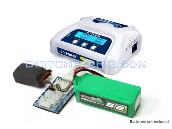 GT Power PD606 (6Amps, 50Watts) 1S-6S - AC/DC Balancing LiPo LiFe Battery Multicharger (Charge up to 6 batteries at once) GTP4010