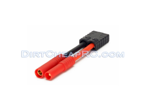 GT Power High Current Adapter - Traxxas TRX High Current Female to Tamiya Molex (Standard) Male (12AWG) - For Battery, ESC, or Charger (Leads, Cables, Wires, Connectors, Plugs) GTPH0205