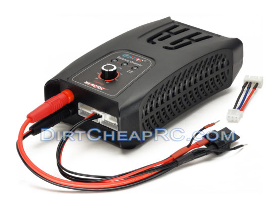 H6 TRAXXAS ID AC/DC 2S-6S (5Amps, 50Watts): LiPo, LiFe, NiMH, NiCd AC/DC Balancing Battery Charger w/ Traxxas ID 2S & 3S Battery Charging Cable (HT-0082)