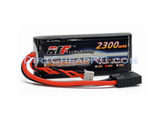 L&E 7.4V 2300mAh 2S Cell 65C LiPo Battery Pack w/ Traxxas High Current Style Connector: 1/16 E-Revo & VXL, 1/16 Summit & VXL, 1/16 Slash LND2S2365