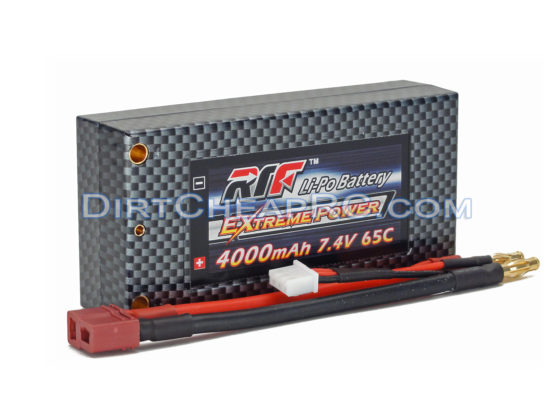 7.4V 4000mAh 2S Cell 65C Shorty HardCase LiPo Battery Pack w/ 4mm Bullet & Deans Ultra Connector (RTF)