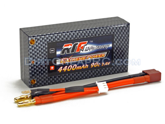 7.4V 4400mAh 2S Cell 90C Shorty HardCase LiPo Battery Pack w/ 4mm Bullet & Deans Ultra Connector (RTF)