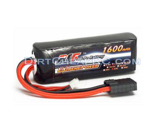 L&E 11.1V 1600mAh 3S Cell 65C LiPo Battery Pack w/ Traxxas High Current Style Connector: 1/16 E-Revo VXL, 1/16 Summit VXL LND3S1665