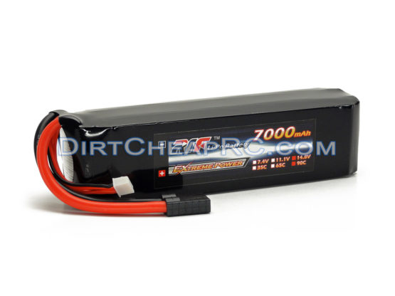 L&E 14.8V 7000mAh 3S Cell 65C Hardened Soft Case LiPo Battery Pack w/ Traxxas High Current Style Connector: (X-Maxx) LND4S7090