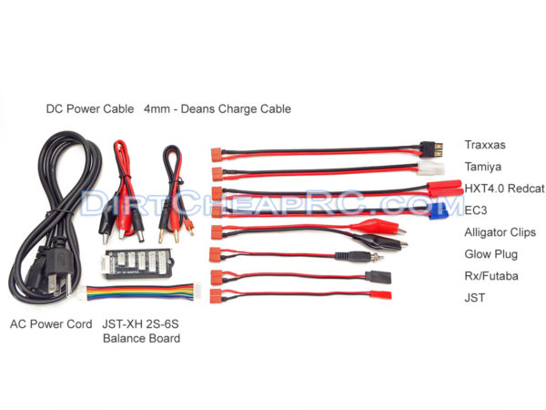 NiMh AC/DC Balancing Battery Charger Deans Traxxas Tamiya Redcat EC3