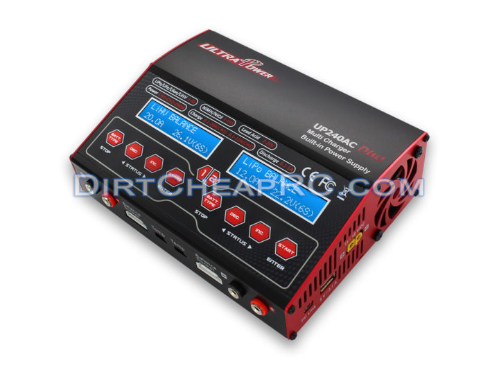 Ultra Power UP240AC Duo Dual Port (Ch1 20Amps, Ch2 12Amps, 240Watts Max Total): LiPo, LiHv, LiIon, LiFe, NiCd, NiMh, Pb AC/DC Balancing Battery Multicharger ULTD240AC