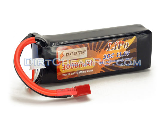 11.1V 3000mAh 3S Cell 30C-60C LiPo Battery Pack w/ Deans Ultra Connector T-Plug (Align T-Rex 450 Plane Heli Quad Drone)