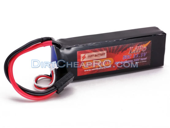 11.1V 5200mAh 3S Cell 50C-100C LiPo Battery Pack w/ Traxxas High Current Style Connector